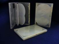 DVD One-Time Lockable 6-disc Case - CLEAR