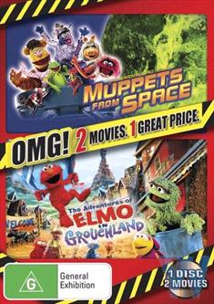 2 MOVIE PACK (ELMO IN GROUCHLAND / MUPPETS FROM SPACE) - OMG!