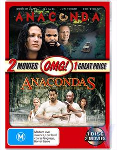 2 MOVIE PACK (ANACONDA / ANACONDAS: THE HUNT FOR THE BLOOD ORCHID) - OMG!