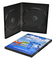 DVD Double Black Case (14mm) - Budget