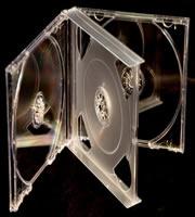 CD Jewel 4-disc Clear 24mm (Assembled)