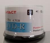 DVD-R 16x Intact Glossy White (Bulk Pack)