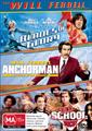 Boxset: Will Ferrell Collection, The (Blades Of Glory/Anchorman:The Legend Of Ron Burgundy/ Old School: Uncut)
