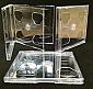CD Jewel 3-disc Triple Clear 10.2mm